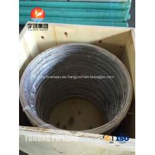 Acero inoxidable bobina tubo ASTM A269 TP316L