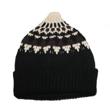 100% Acrylic Custom Flod up Knitted Hat and Wholesale Beanies Knitting Hats