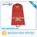 Customized Zippered Men's Garment Suit Hanger Bag Nonwoven Suit Cover Bag