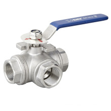 3 Way 316 Stainless Steel Ball Valve