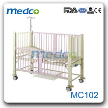 Stainless steel frame manual hospital bed for sale MC102