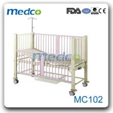 Cama de hospital manual quadro de aço inoxidável à venda MC102