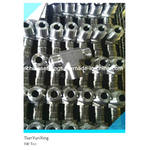Cutting Ring Fittings Stainless Steel Socket Weld Tee