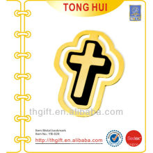 Church Cross shape metal bookmarks /gold metal bookmarks for books