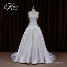 Floral Shouldr Mikado Fabric Wedding Dress