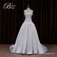 Цветочные Shouldr ткани микадо свадебное платье