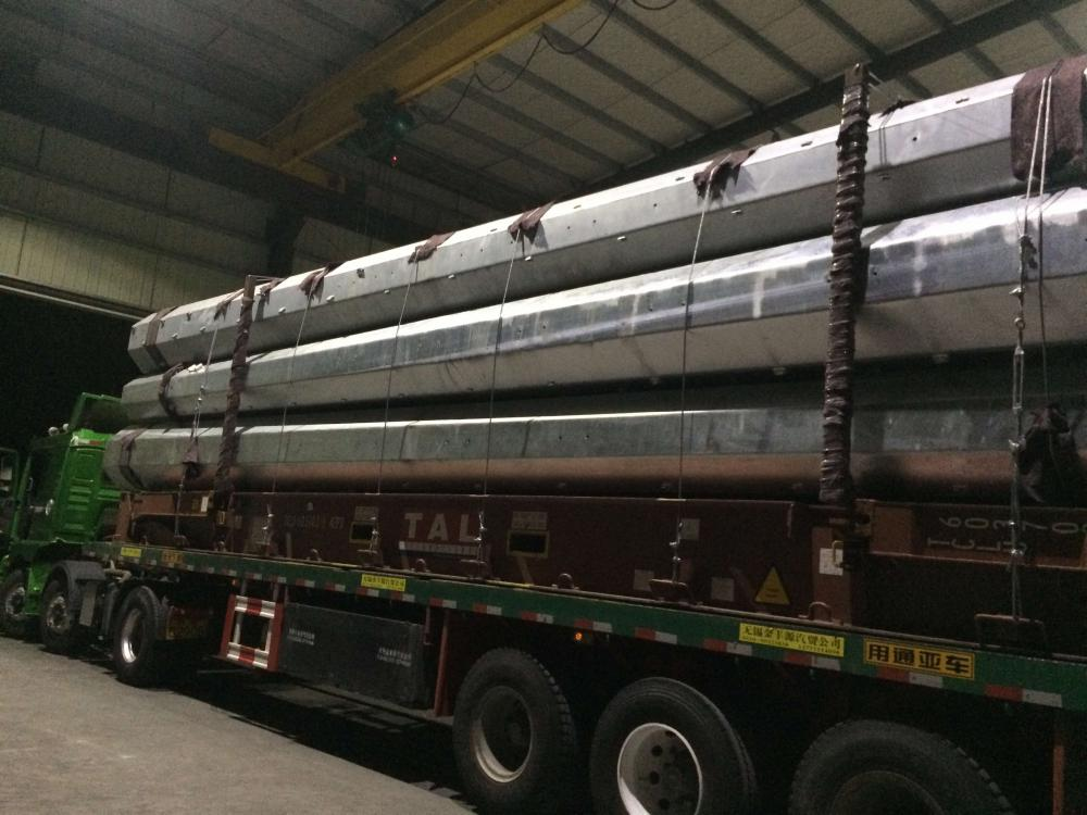 Steel electric poles