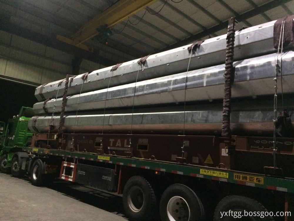 Steel electric poles