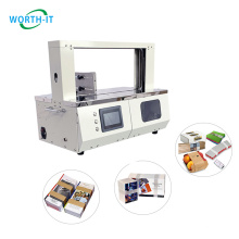 Fully automatic paper /opp belt envelope bunle / band machine for greeting cards