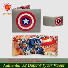 Carteira de papel promocional tyvek personalizada