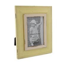 Cadre de photo en bois fini Yello