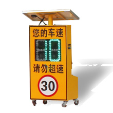 Outdoor Traffic LED Light radar speed sign trailer