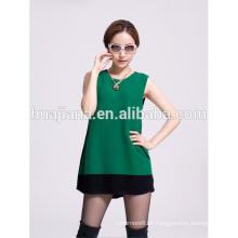Vestido de confecção de malha de cashmere feminino