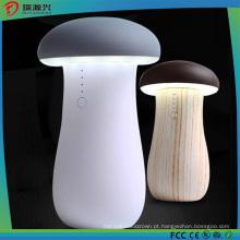 Banco portátil novo do poder do cogumelo com luz do diodo emissor de luz do carregador da emergência