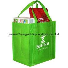 Eco freundliche grüne nicht-gewebte wiederverwendbare Lebensmittelgeschäft-Tasche