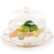 PP/PS Plastic Bowl Mini Rounded Bowl 2.3 Oz with Lid