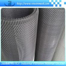 Treillis métallique tissé à mailles tissées serties de fer