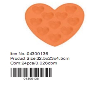 Heart shape silicone chocolate moulds