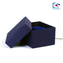 Single color foil stamping paper box for cosmetic and jewellery watches packing