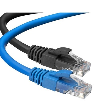 Cavo patch UTP CAT6 (blu e nero)