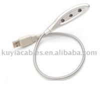 USB 3 LED Light Lamp flexível para Notebook PC Notebook
