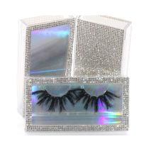 SL015H Hitomi Customized Logo Mink Lashes Long Eyelash soft natural mink eyelashes Fluffy 25mm Magnetic Mink Eyelashes