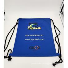 mochila esportiva de lona personalizada com cordão