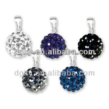 Umbigo anel piercing jóias Disco bola pingente