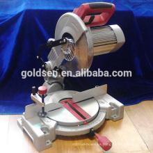 255mm 1800w de bajo consumo de energía eléctrica de corte de madera de aluminio de corte de la mesa de herramientas circulares de la máquina Silent Compound Mier Saw