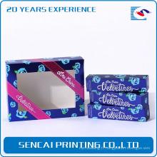 Échantillon gratuit personnalisé boîte de couleur de papier de couleur avec fenêtre