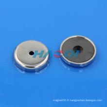 Pot personnalisé en céramique aimants à base ronde