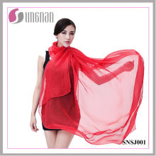 Bufanda de seda imitada del color del caramelo de la bufanda de moda de las señoras (SNSJ001)