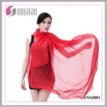 Lenço de seda imitado da cor dos doces do lenço das senhoras (SNSJ001)
