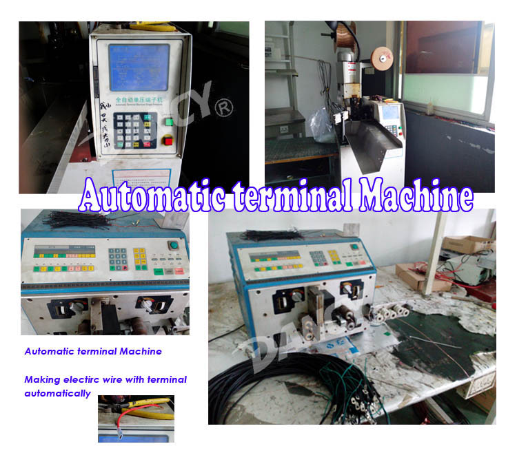 Automatic terminal device for welding machine workshop