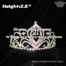 Small Mini Crystal Pageant Crowns With Number 21