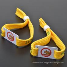 Billiges Custom Festival Event RFID Armband, Bunte Polyester RFID Armbänder