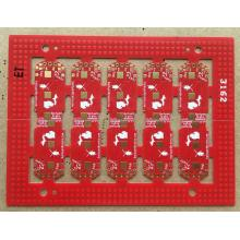 PCB ENIG de 0.4mm FR4 Red
