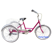 """24"""" Rear Coaster Brake Pedal-Powered Tricycle"""