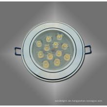 Weiß / Warm White 12W LED Spot Deckenleuchte für den Wohnungsbau langen Lebensdauer