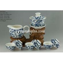 Ganoderma Lucidum Set de vajilla de porcelana de flores