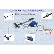 JS Paint System Electric Power Paint Roller For Walls and Ceilings DIY 45W with brush JS610GT