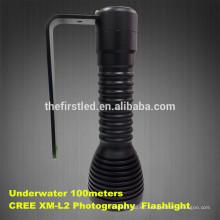 2014 Nueva linterna submarina profesional del salto de la fotografía de los 100meters con la carga del USB