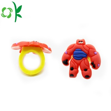 Hot Selling Superman Siliconen Ringen Kinderen Souvenir Ring