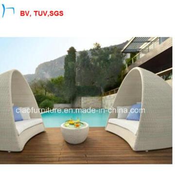 Outdoor Rattan Furniture Patio Garden Wicker Modern Sun Lounge (GS-0005)