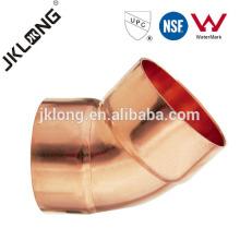 J9007 45 Deg Codo de cobre, Racor de cobre