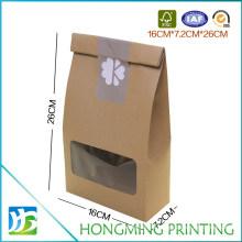 Plain Kraft Eco Paper Food Box with Pet Window