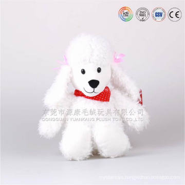 Chnia 15 years ICTI audits 25cm small snow-white cute dog flush toy