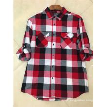 Men's Long-Sleeved Checkered Shirt