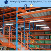 Sistema de mezanino de rack multi-armazém