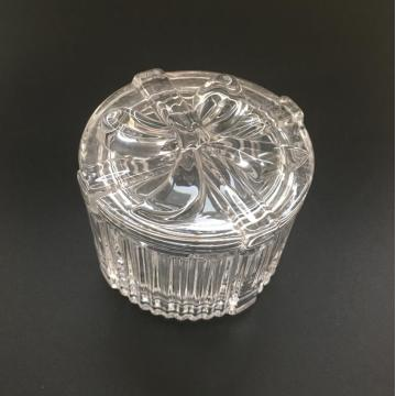 Ronde strik patroon Clear Jewelry Box / Candy Jar